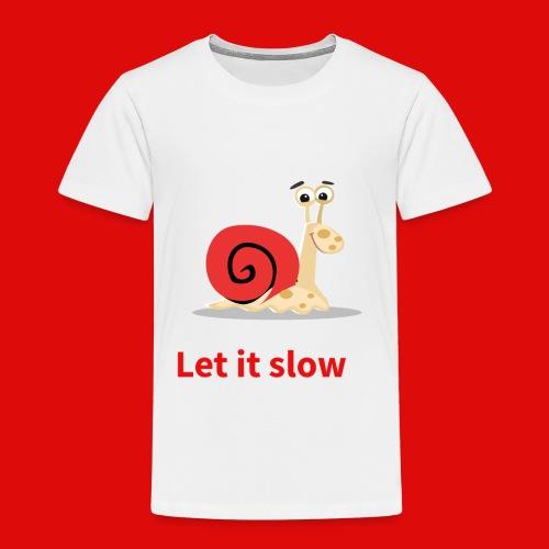 let it slow escargot - T-shirt Premium Enfant