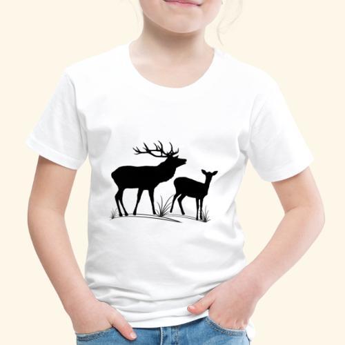 Hirsch, Reh, Rotwild, Damwild, Wald, Tiere, Rehe - Kinder Premium T-Shirt