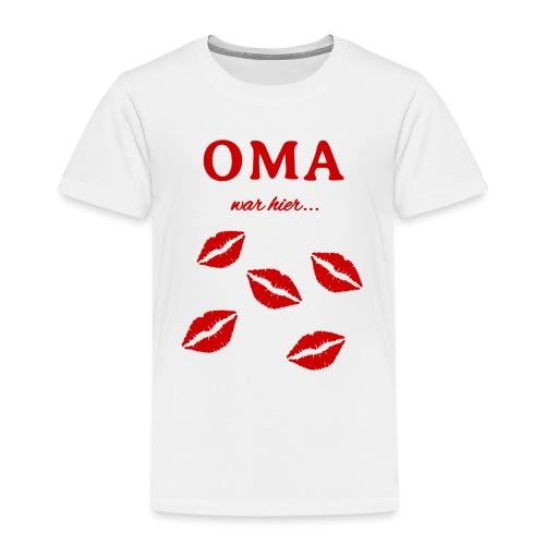 Oma war hier lustiges Oma Baby und Kinder Design - Kinder Premium T-Shirt