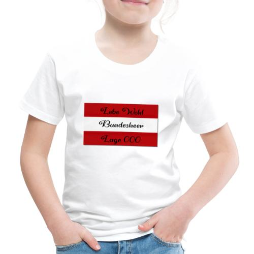 Bundesheer lage 000 - Kinder Premium T-Shirt