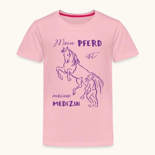 Mein Pferd ist meine Medizin lila Geschenk Spruch - T-shirt Premium Enfant