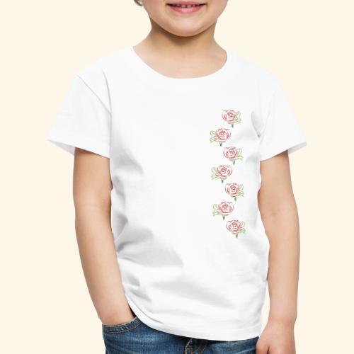 rote Rosen Kette Rose Ranke Blumen Blume Blüten - Kinder Premium T-Shirt