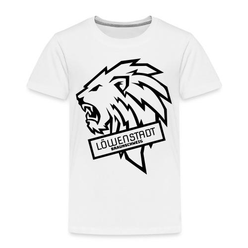 Löwenstadt Design 9 schwarz - Kinder Premium T-Shirt