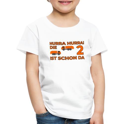 Drugie urodziny Śmieciarka - Koszulka dziecięca Premium
