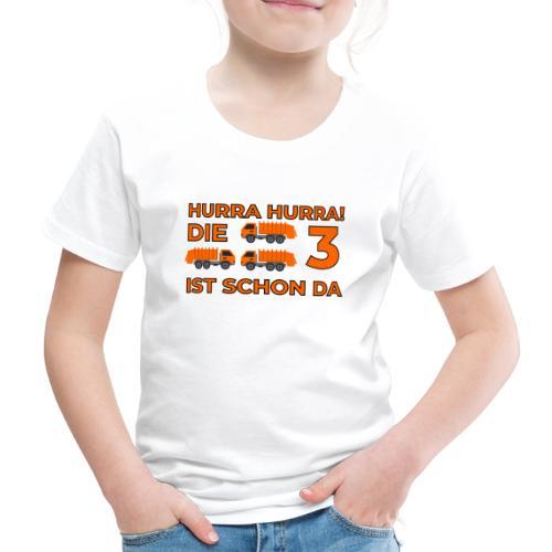 Trzecie urodziny śmieciarka - Koszulka dziecięca Premium