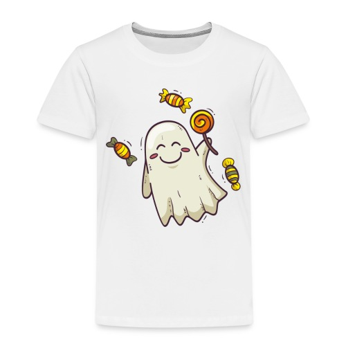 little cute ghost carrying candy - T-shirt Premium Enfant