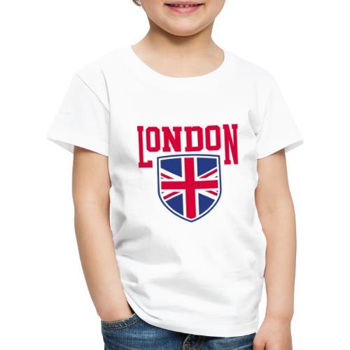 London Souvenir - London Wappen Flagge - Kinder Premium T-Shirt