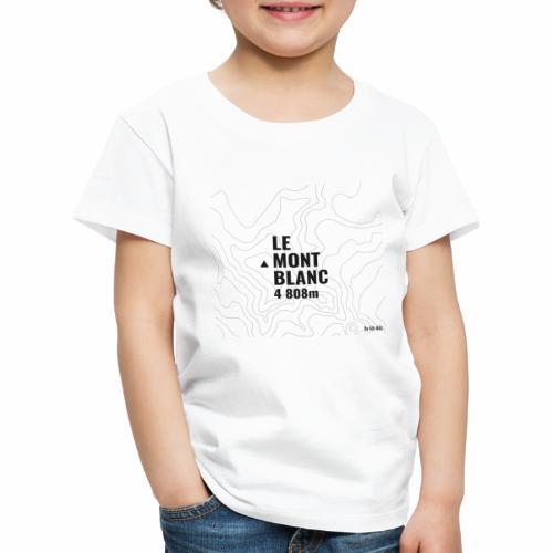 Mont Blanc et courbes de niveau - T-shirt Premium Enfant