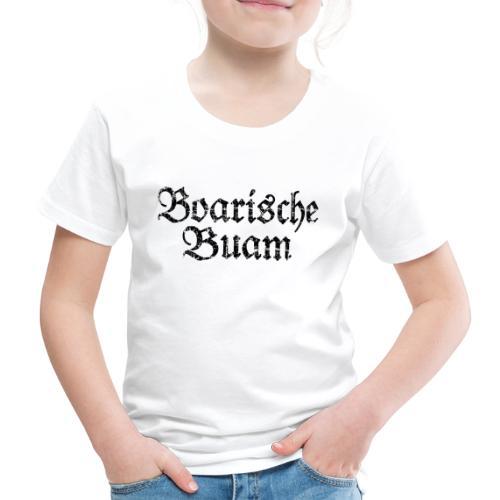 Boarische Buam Männer aus Bayern (Vintage Schwarz) - Kinder Premium T-Shirt
