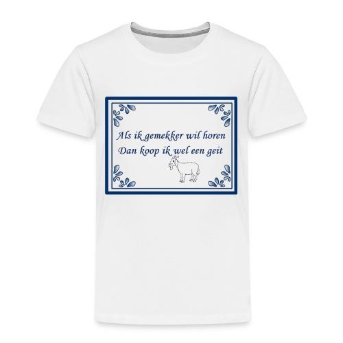 Tegeltje-Geit - Kinderen Premium T-shirt