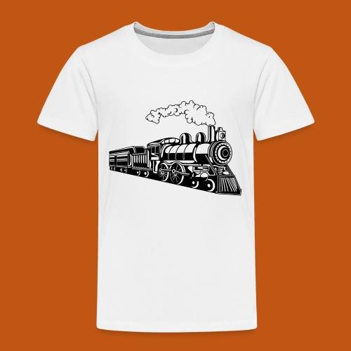 Lokomotive / Locomotive 02_schwarz - Kinder Premium T-Shirt