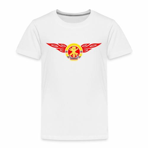 Car flames crest 3c - Kids' Premium T-Shirt