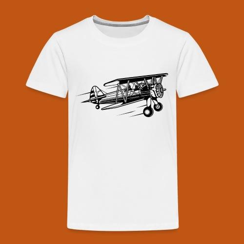 Flieger / Airplane 01_schwarz - Kinder Premium T-Shirt