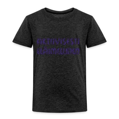 Aktiivisesti eläimellinen - Violetti - Lasten premium t-paita