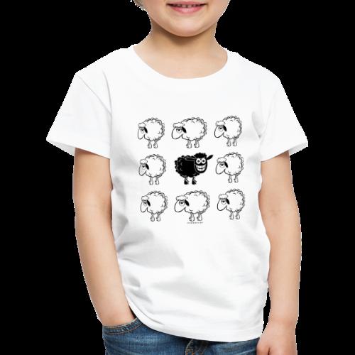 10-45 BLACK SHEEP - musta lammas lahjatuotteet - Lasten premium t-paita
