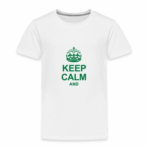 Stai calmo e tuo testo - Maglietta Premium per bambini