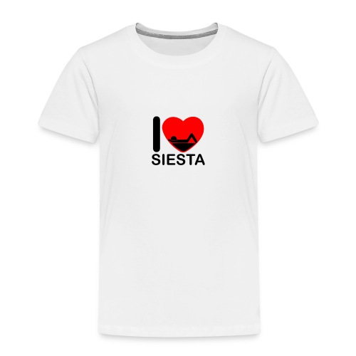 I love siesta - Camiseta premium niño