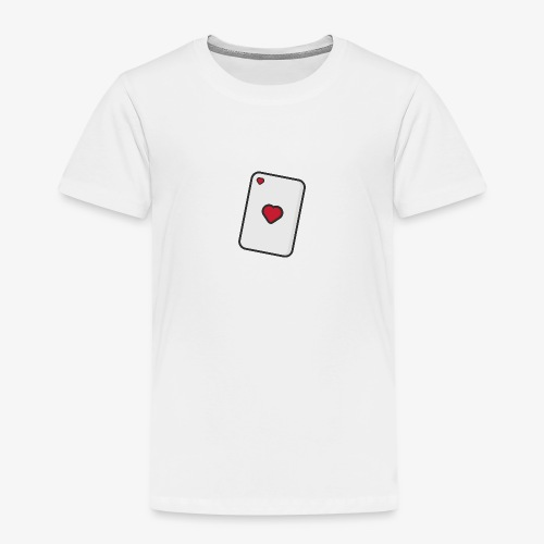 Hearts, Playing card - Kids' Premium T-Shirt