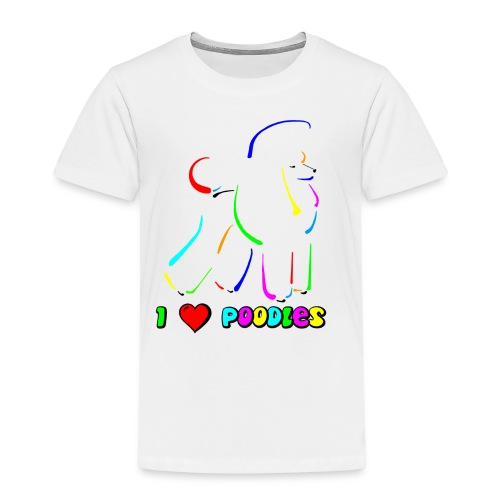 poodle on canvas finish tootiefruity gif - Kids' Premium T-Shirt