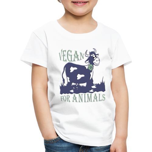 VEGAN FOR ANIMALS - Kinder Premium T-Shirt