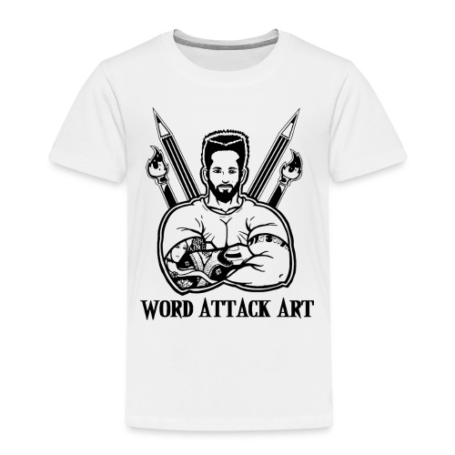 Word Attack Art - Kinder Premium T-Shirt