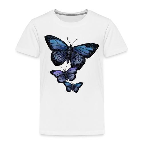 Schmetterling Tier Vintage Fliegen Blumen Retro - Kinder Premium T-Shirt