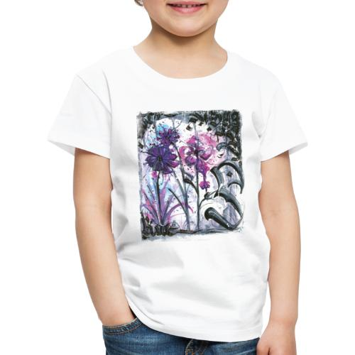 Crazy Flowers - Kinder Premium T-Shirt