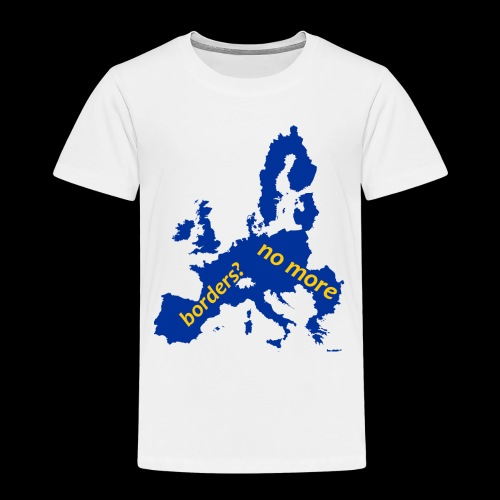 Borders? no more blue Europe - Maglietta Premium per bambini