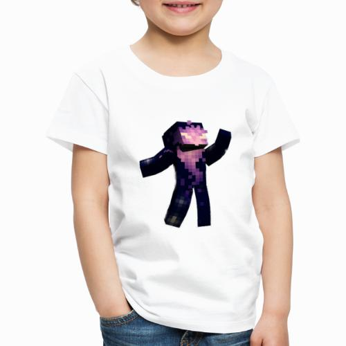Skin Rising Pose with Shaykh Gaming on Back - Kids' Premium T-Shirt