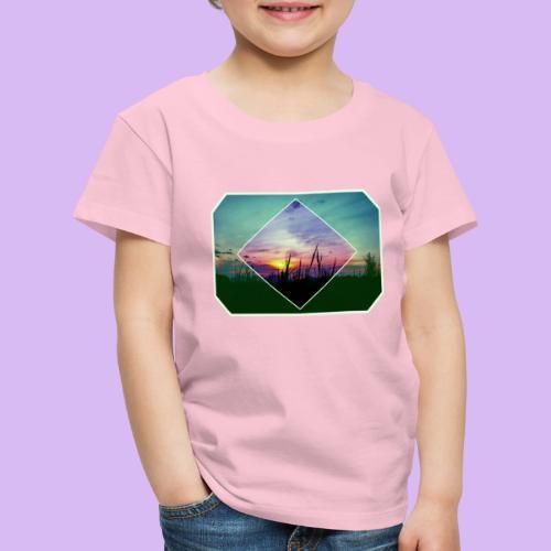 Tramonto in risalto tra figure geometriche - Maglietta Premium per bambini
