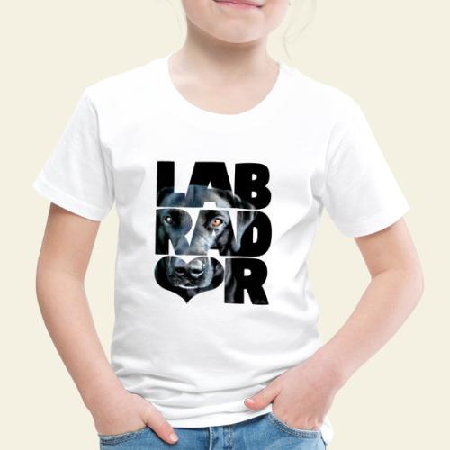 NASSU Labrador Black III - Lasten premium t-paita