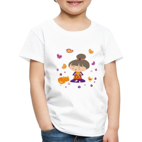 Happy Meitli - Yoga und Meditation - Kinder Premium T-Shirt