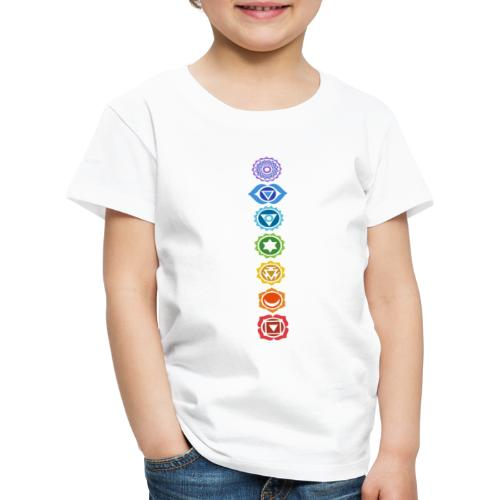 The 7 Chakras, Energy Centres Of The Body - Kids' Premium T-Shirt