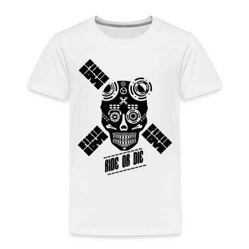 skull riding ride or die - T-shirt Premium Enfant