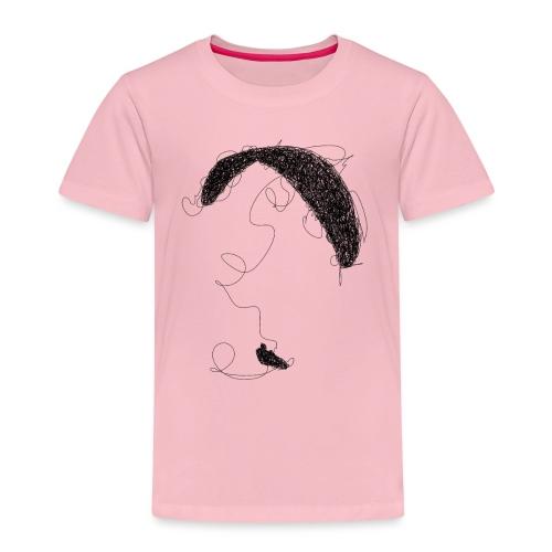Paraglider scribble black - Kinder Premium T-Shirt