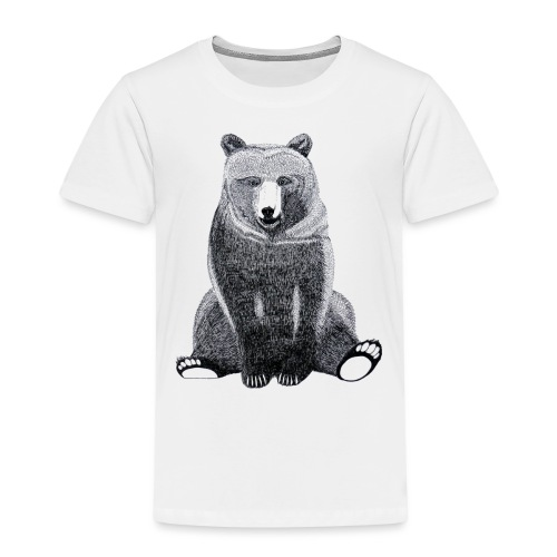 Bär Süß Bild Kinder Weihnachten Tiere - Kinder Premium T-Shirt
