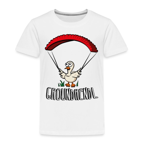 Groundhendl Paragliding Huhn - Kinder Premium T-Shirt