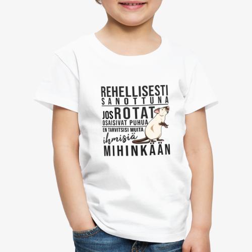 Rotat Osaisivat Puhua XI - Lasten premium t-paita