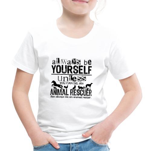 Animal Rescuer Black - Lasten premium t-paita