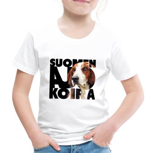 Suomenajokoira II - Lasten premium t-paita
