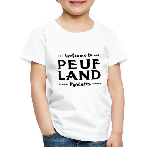Peuf Land Pyrénées - Black - T-shirt Premium Enfant
