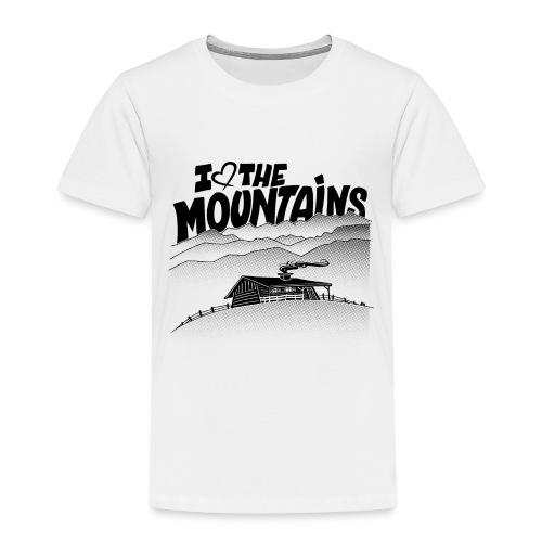 I love The Mountains - Kinderen Premium T-shirt