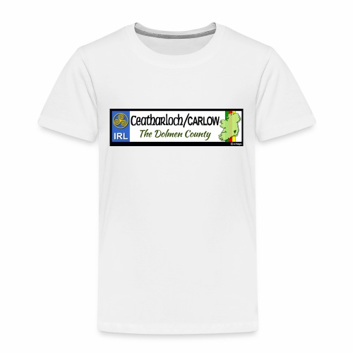 CARLOW, IRELAND: licence plate tag style decal - Kids' Premium T-Shirt