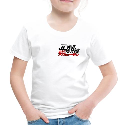 JDM Life Sweden savrt logga - Premium-T-shirt barn