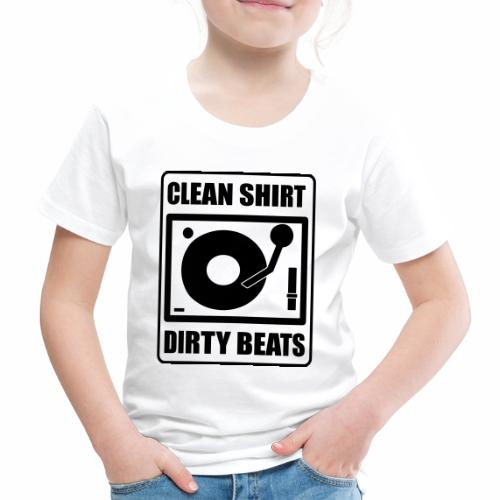 Clean Shirt Dirty Beats - Kinderen Premium T-shirt