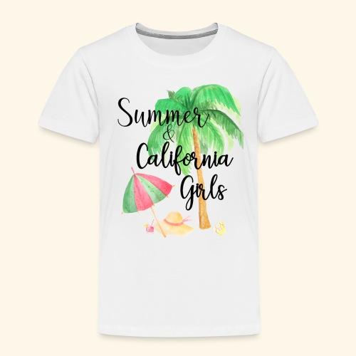 California Girl at Beach - Kinder Premium T-Shirt