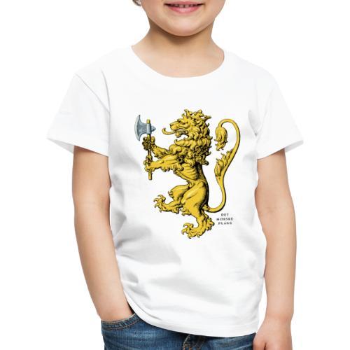 Den norske løve i gammel versjon - Premium T-skjorte for barn