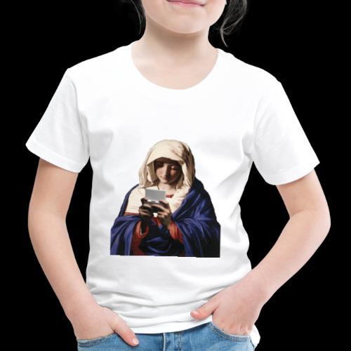 Virgin Maria Playing NDS - Kinder Premium T-Shirt
