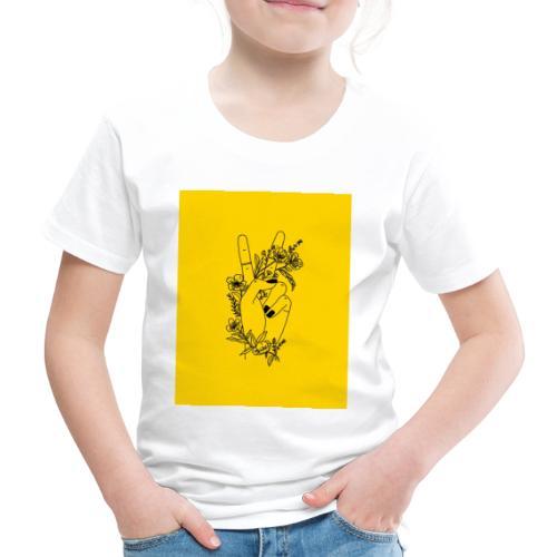 Yellow Peace Symbol Art - Kids' Premium T-Shirt