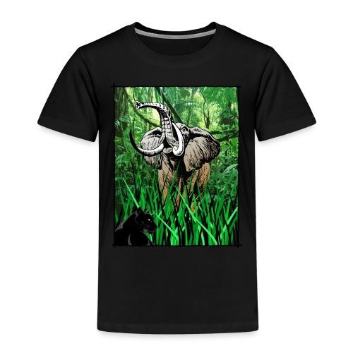 Waldelefant in Afrika - Kinder Premium T-Shirt